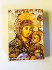 100 paper pictures of virgin mary of Bethlehem
