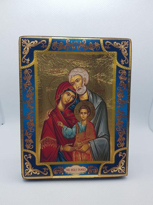 Holy family silkscreen icon size 13*10cm