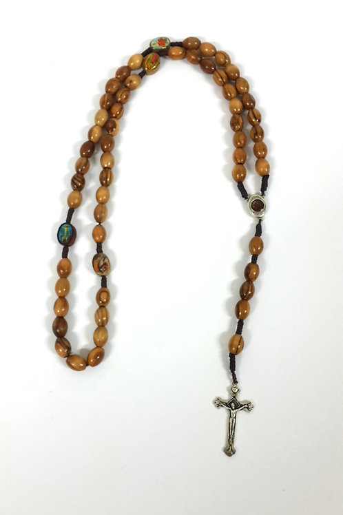 Olive wood big beads Rosary