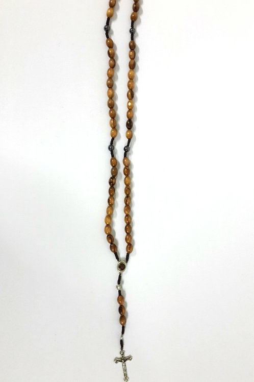Olive wood rosary big beads