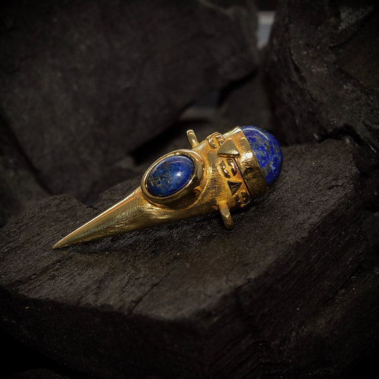 Brass Treasure Keeper - Lapis