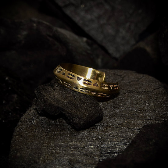 Brass Slim Unity Ring