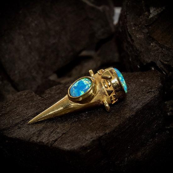 Brass Treasure Keeper - Opal
