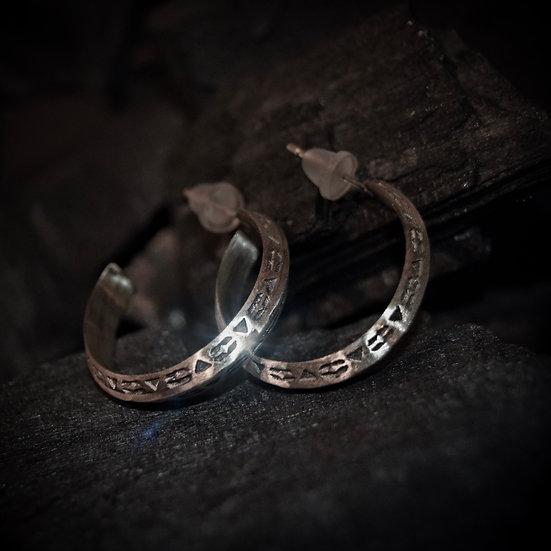Sterling Silver Unity Earrings