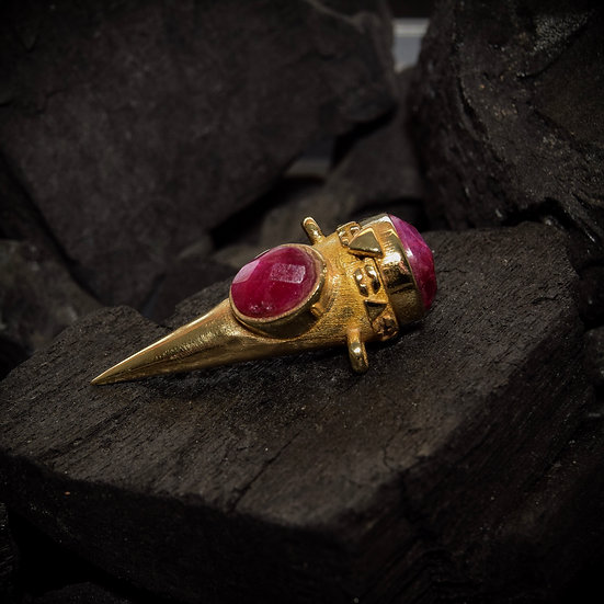 Brass Treasure Keeper - Ruby