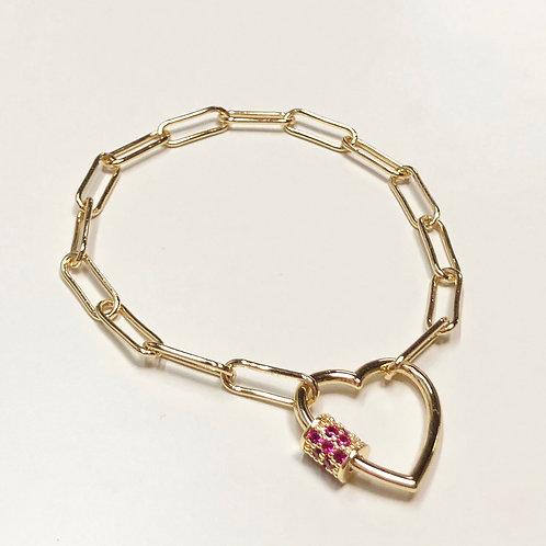 Heart cz bracelet