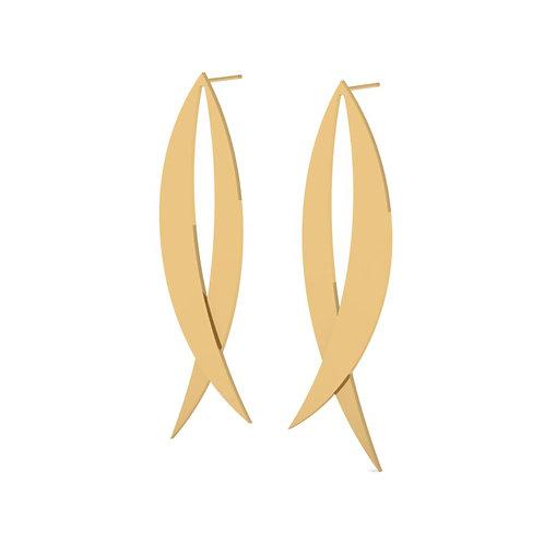 14k gold irregular shape earrings