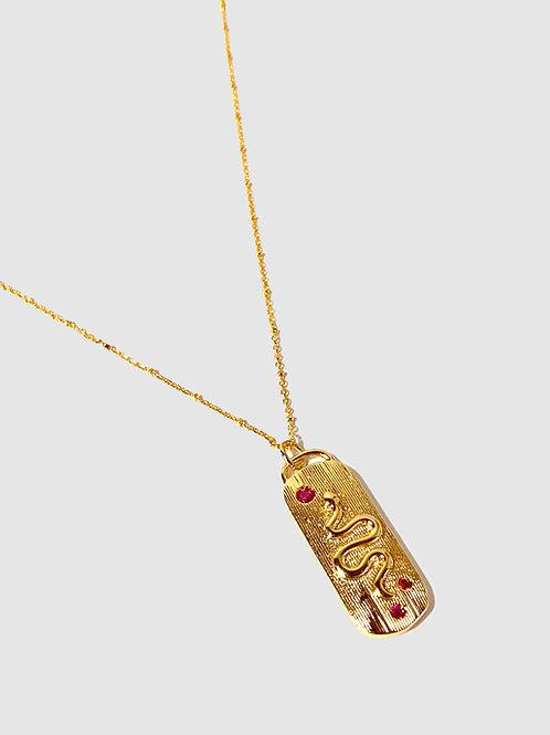 Snake ruby necklace