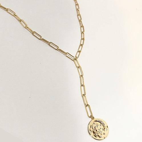 moon & star Y lariat necklace