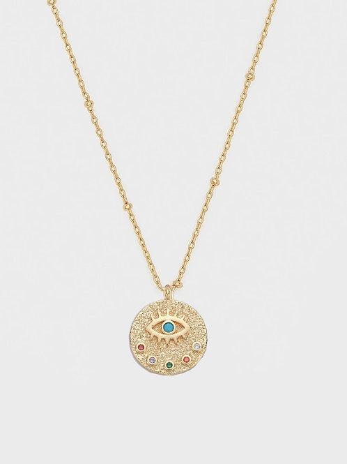 Evil eye charm pendant