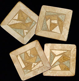 Natural Stone Mosaic Coasters