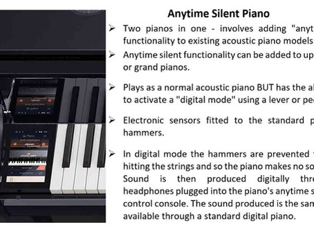 What are Silent Anytime Pianos?