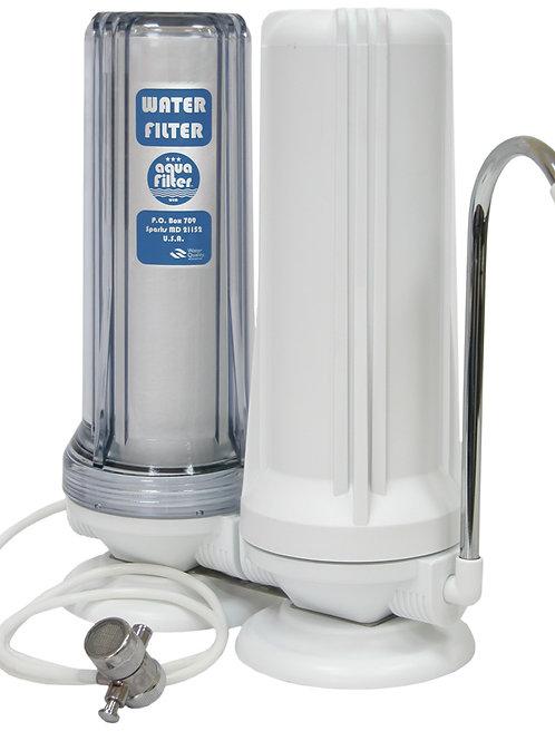 Διπλό φίλτρο πάγκου Aquafilter