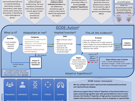 The DCIDE Method applied to understand autism: Poster presented at EHBEA 2021