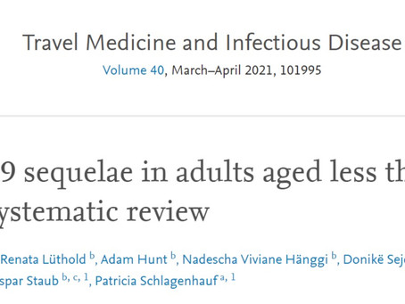"""Co-author on """"COVID-19 sequelae in adults aged less than 50 years: A systematic review"""""""