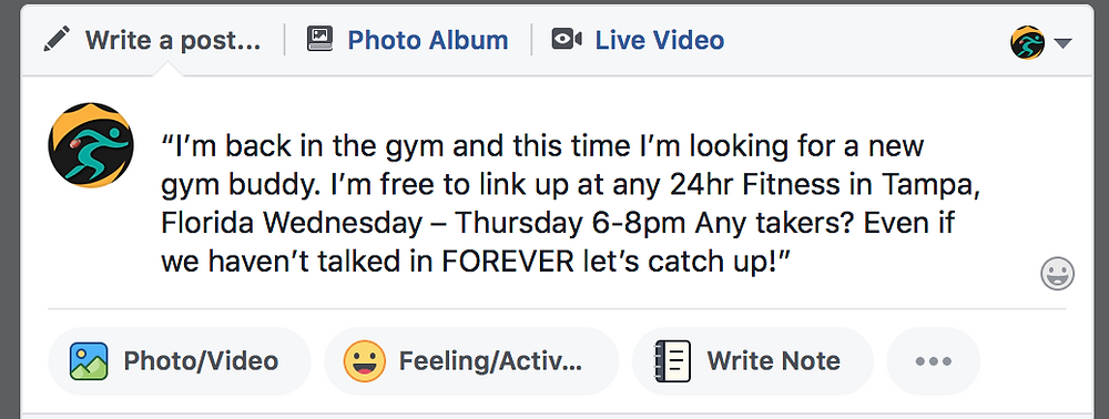 facebook fitness post