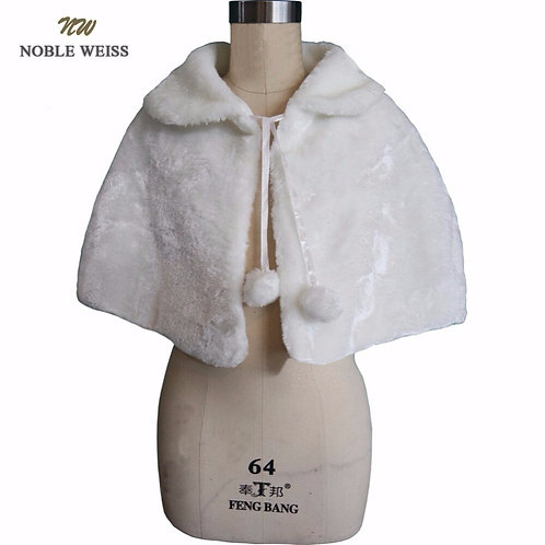 Youth Faux Fur Cape