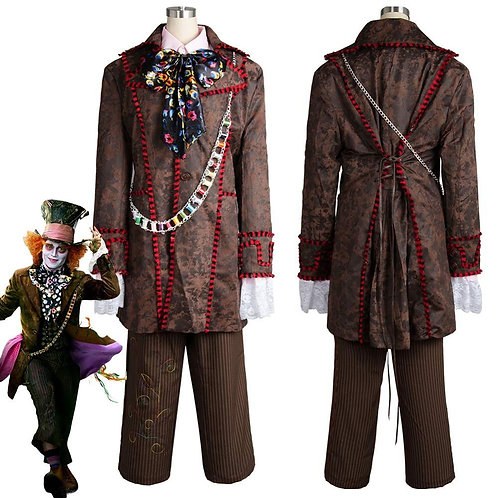 """'Alice in Wonderland"""" Live Action Mad Hatter Cosplay Costume"""
