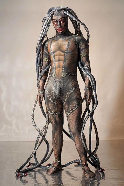 Print Medusa Head Bodysuit