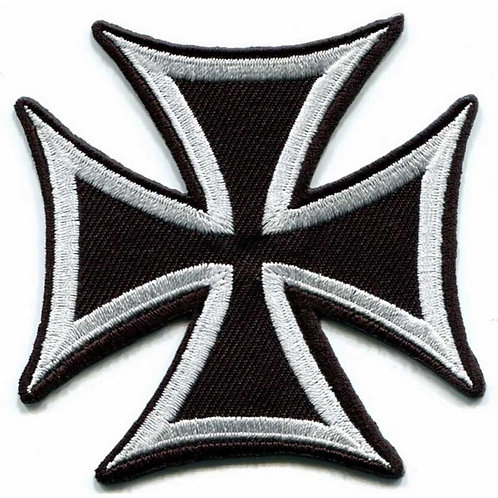 "3"" WWII German Cross Iron on/Sew on/Velcro on Embroidered Patch - German Army"
