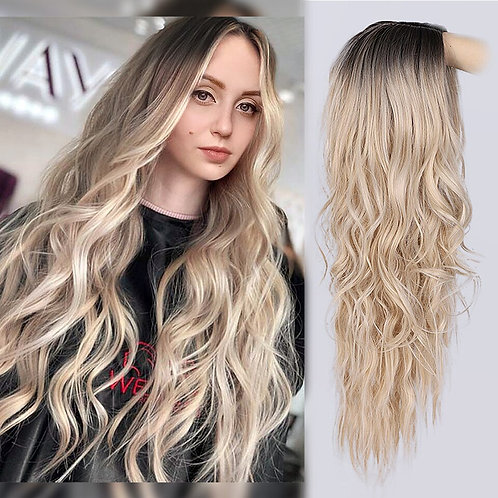 AISI HAIR Long Wavy Ombre Wig