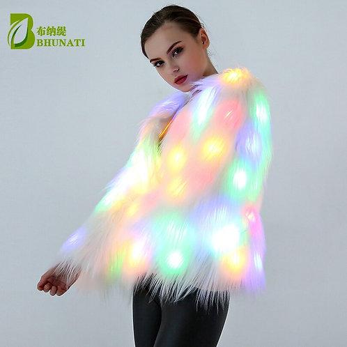 Faux Fur LED Light Coat