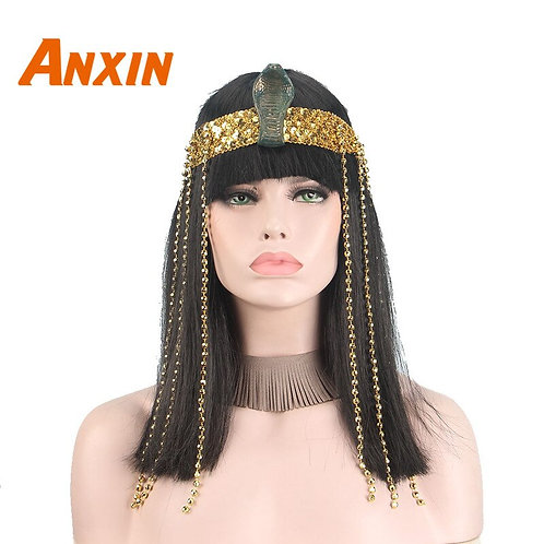 Queens of Egypt Black Costume Wig