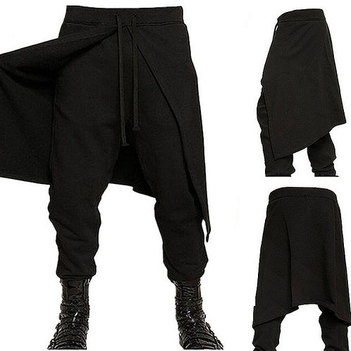 Medieval Costume Spliced Loose Pants