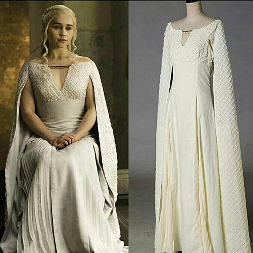 """Game of Thrones"" Daenerys Targaryen Long White Dress"