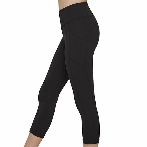 Original Athletic CAPRI Black Thigh Pocket Legging - CAPRI Length - RTS