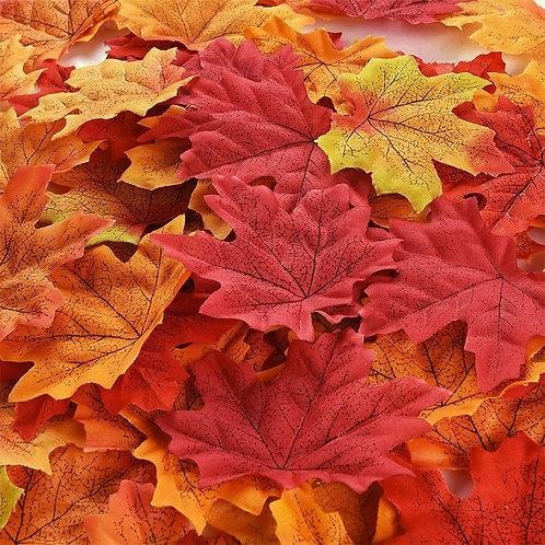 50pcs Artificial Autumn Leaves