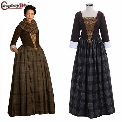 """Outlander"" Claire Fraser Cosplay  Dress"