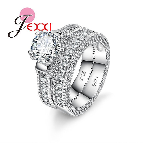 2 Piece Sterling Silver Ring Set
