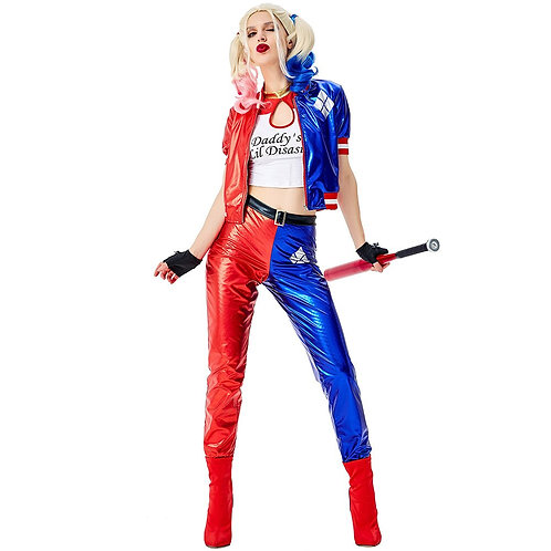 """Deluxe """"Suicide Squad"""" Adult Harley Quinn Cosplay Costume"""