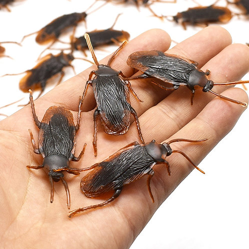 12 Piece Funny Fake Cockroaches