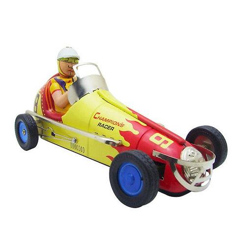 Vintage Clockwork Wind Up Retro Racing Toy