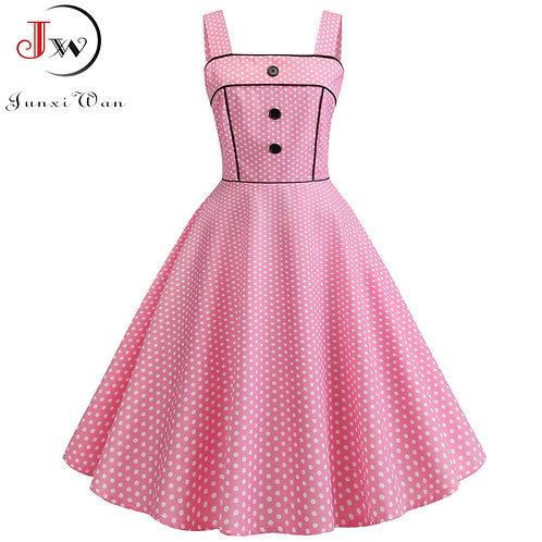 """Darla"" Retro Sleeveless Swing Dress"
