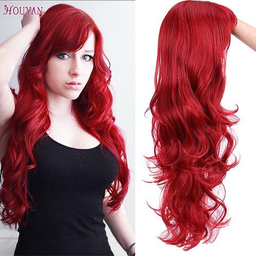 HOUYAN 22 Inch Long Wavy Wig With Bangs