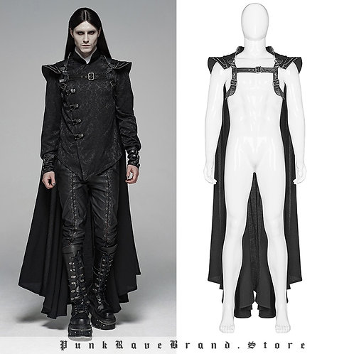 Gothic Black Long Cape