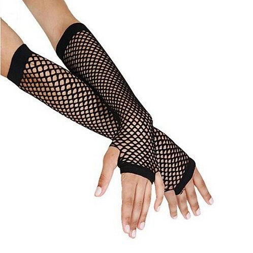 3/4 Length Punk Fishnet Fingerless Gloves
