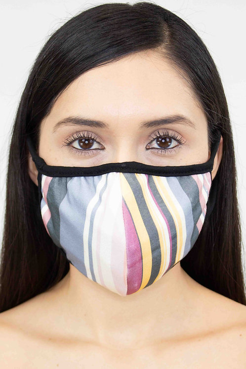 Striped Print Face Mask