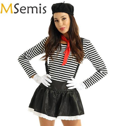 MSemis Adult Mime Costume