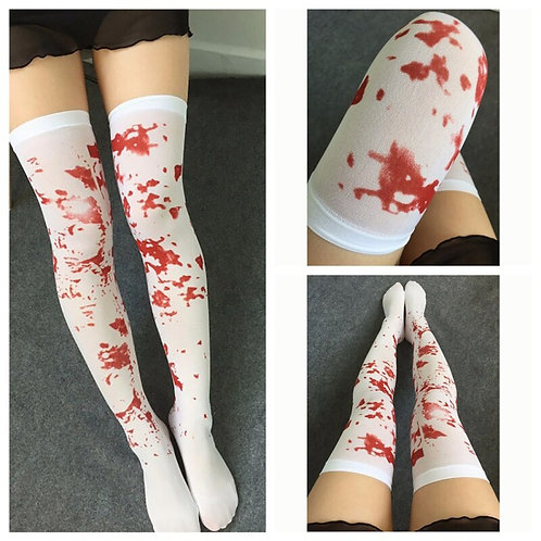Novelty Bloody Over the Knee Stockings