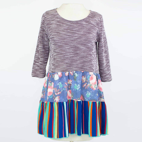 Double Flared Color Block Top
