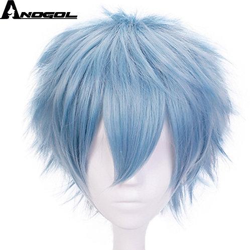 """""""My Hero Academy Blue Synthetic Cosplay Wig"""