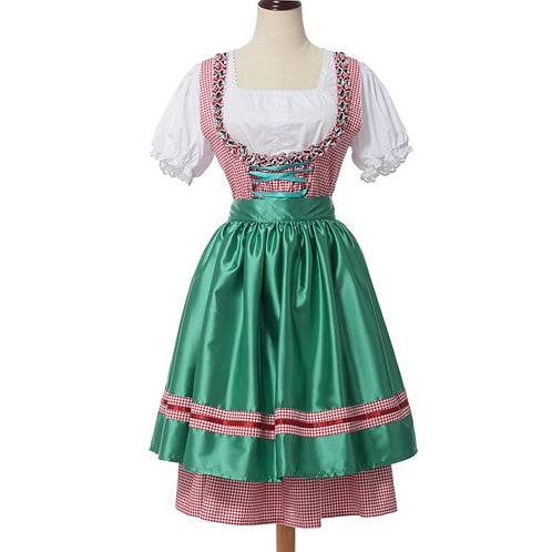 Plaid Colorful Dirndl Dress Set
