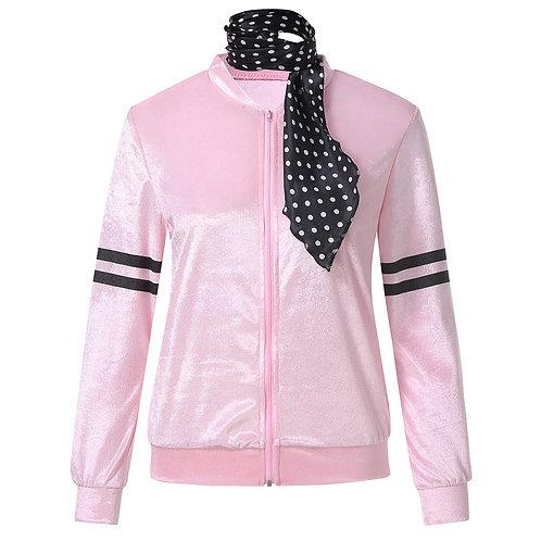 Pink Satin Retro Style Jacket