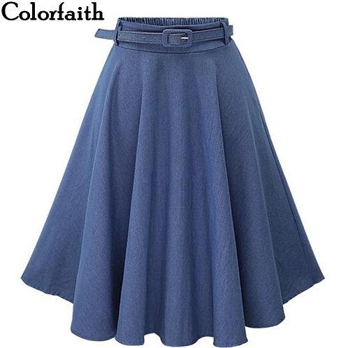 """Taylor"" Retro High Waist Midi Skirt"