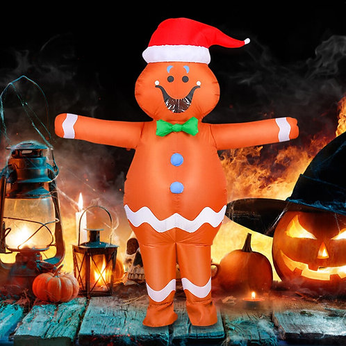Inflatable Gingerbread Cookie Costume