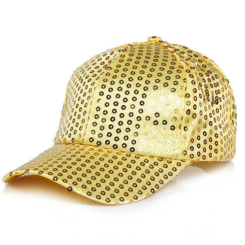 Youth Adjustable Sequin Baseball Cap